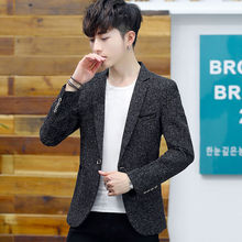 Men's suit spring and autumn Korean style trendy slim jacket youth handsome casual top trendy men's new small suit