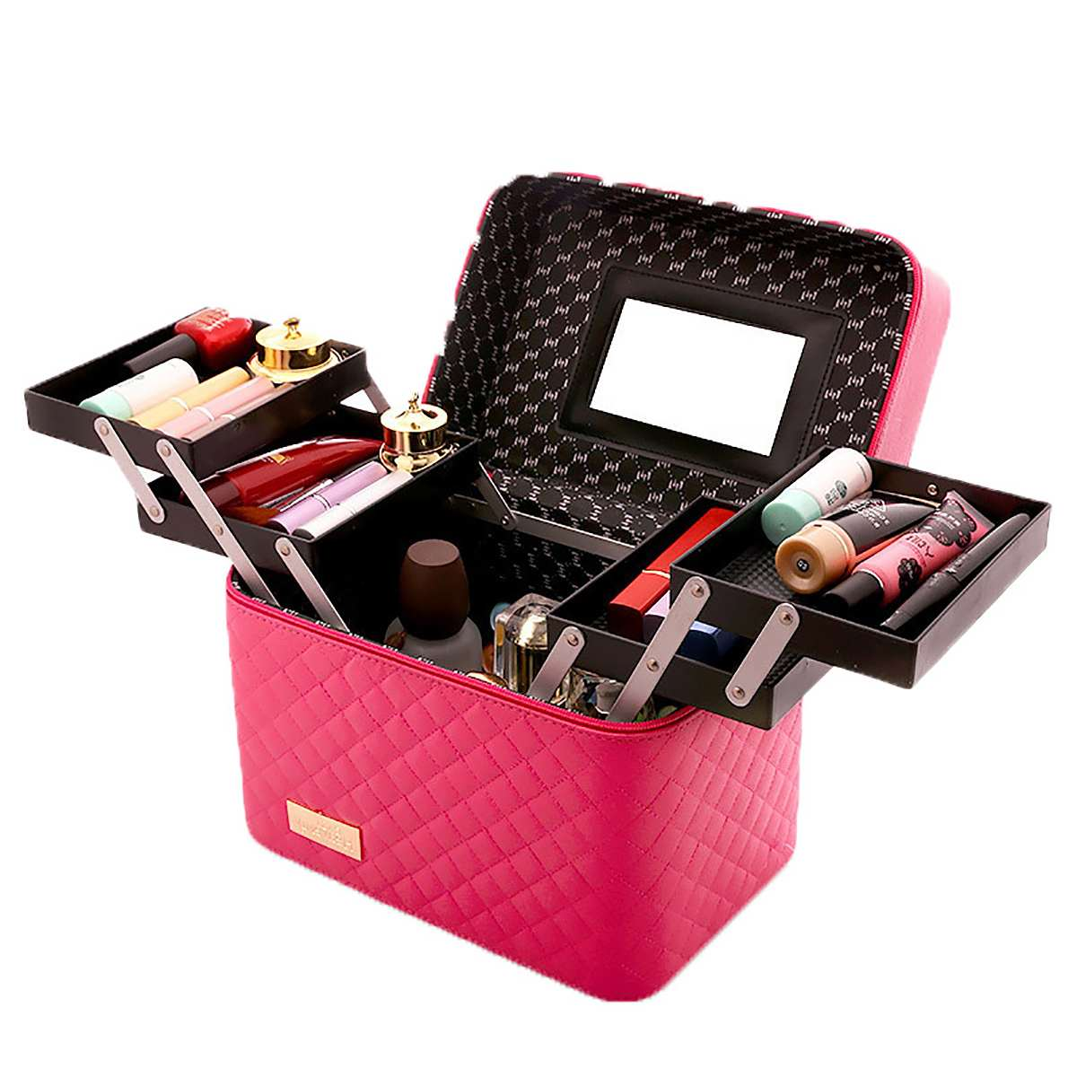 Women Large Capacity Professional Makeup Organizer Fashion Toiletry Cosmetic Bag Multilayer Storage Box Portable Pretty Suitcase|Cosmetic Bags & Cases| - AliExpress