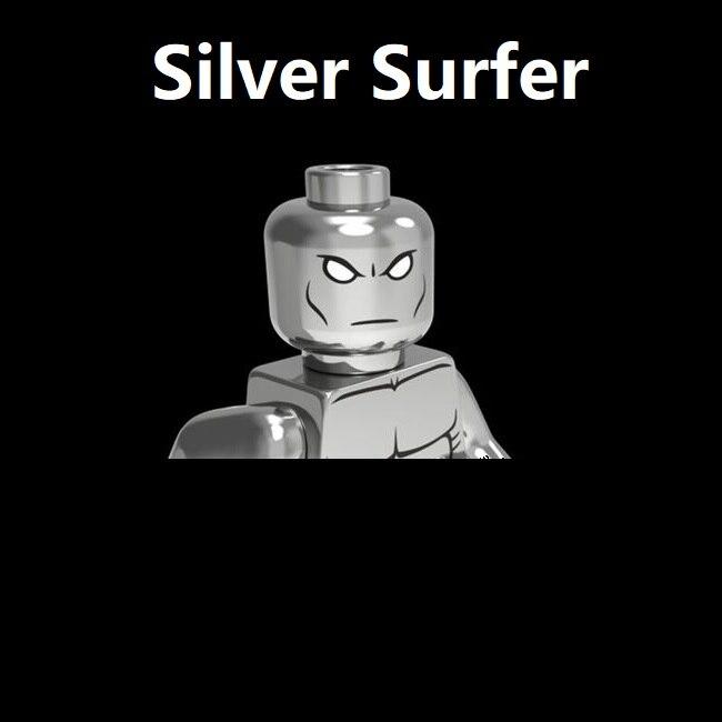 Гальванический DC Super Hero Norrin Radd galктус Серебряный Серфер блоки мини Экшн-Фигурки игрушки мини-фигурки
