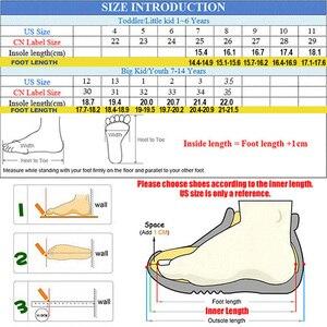 Image 5 - Фирменная кожаная обувь для детей, девочек, мальчиков, босинки, повседневные кроссовки для малышей, размер 25 35 #