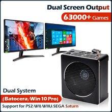 Super Konsole X Box Mini PC Retro WIN 10 Pro und Gaming Dual System Für PS2/WII/PSP/N64/SEGA Bauen in 63000 + Spiele