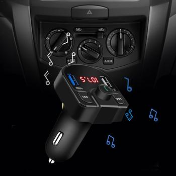 Bluetooth FM Transmitter USB Aux Modulator Handsfree Charge Car MP3 Adapter Car Charger Fast Audio USB 3.1A Dual Kit Car Pl K5I1 image