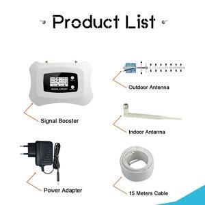 Image 5 - Tam akıllı 4G AWS 1700 2100 cep telefonu sinyal Repaeter bant 4 AGC LCD ekran 70dB hücresel amplifikatör 4G LTE güçlendirici seti