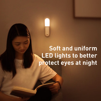 Baseus Led Motion Night Light Body Induction Night Light Lamp USB Rechargeable Magnetic Light Motion Sensor Light Bedroom Light