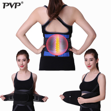 PVP Adjustable Neoprene Double Lumbar support brace breathable mesh protection lower back waist belt for pain relief