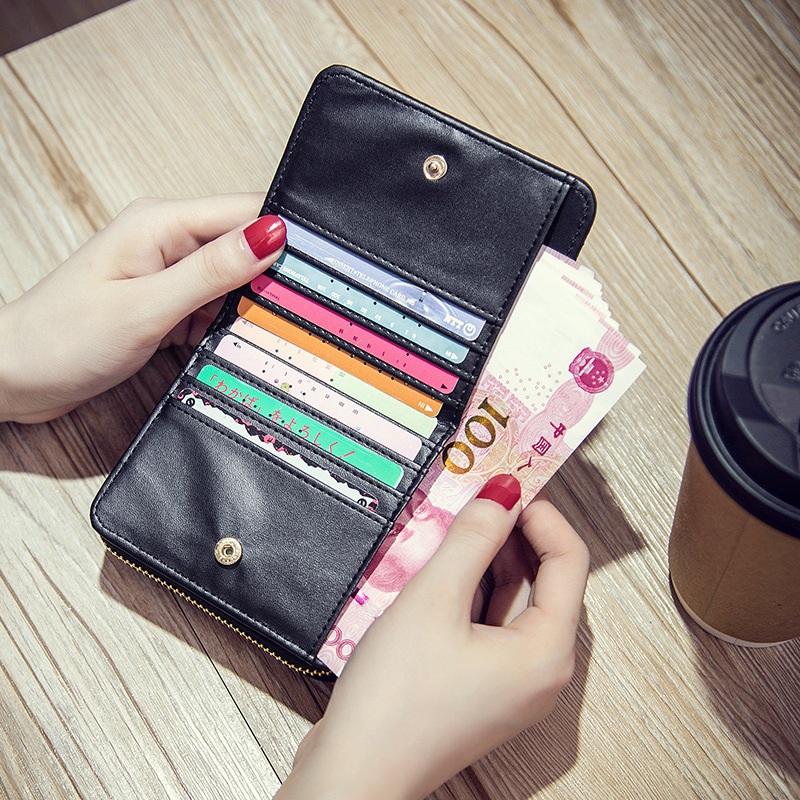 Women's Wallet Zipper&Hasp cute wallet Student Small PU Wallet Coin Purse Fashion Women Card Bag For Women 2020 cartera mujer
