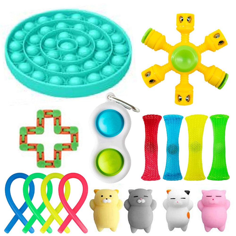 Sensory Toy Set Stress Relief Toy Autism Anxiety Relief Stress squeeze Bubble Antistress img2