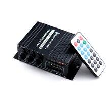 AK370 мини аудио усилитель мощности BT цифровой аудио приемник AMP USB слот для карты памяти MP3 плеер FM радио с пультом дистанционного управления