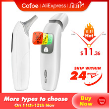 Cofoe Digital Infrared Thermometer Forehead Ear Non Contact Portable Termometro LCD Body Fever Baby/Adult Temperature measure