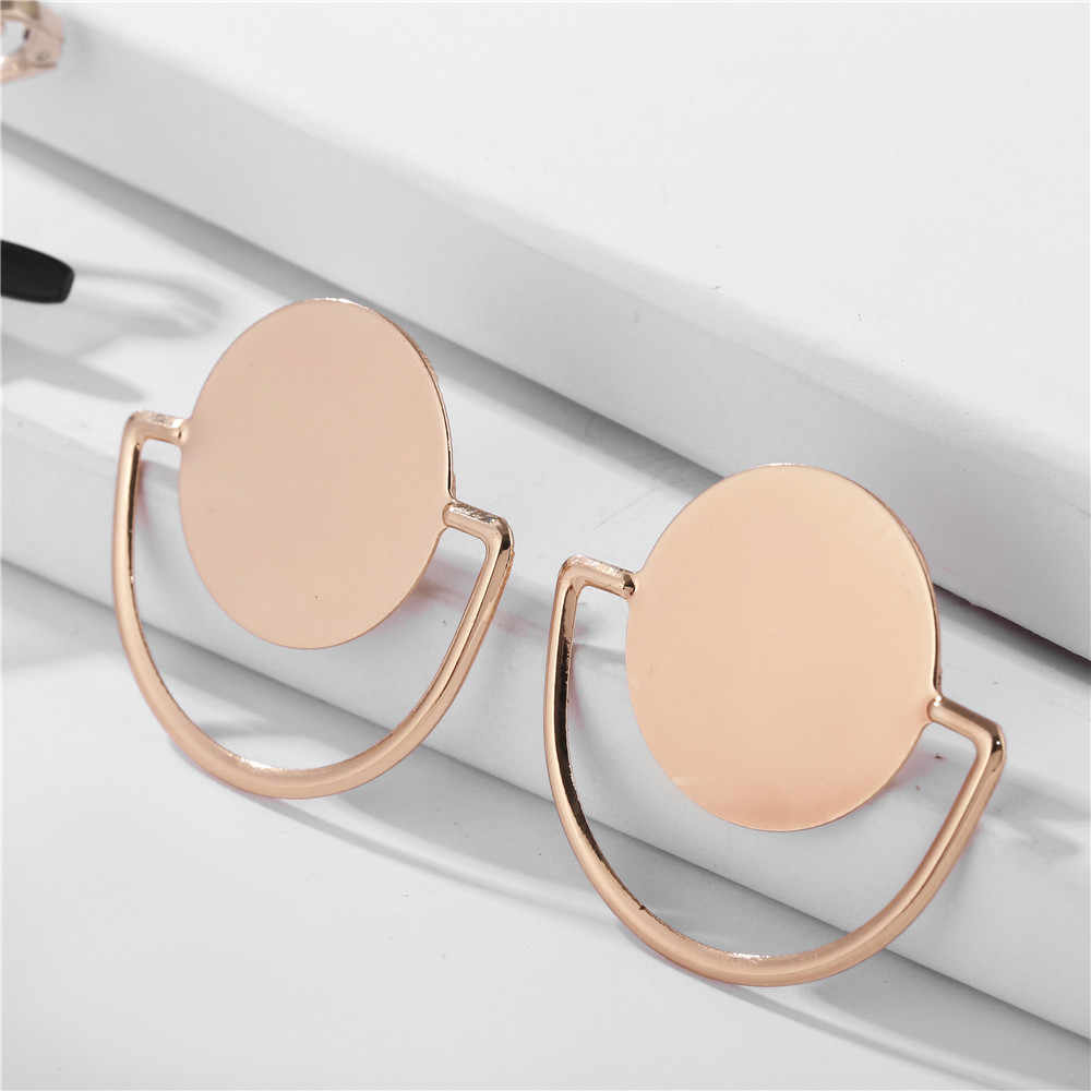 2019 INS Hot Sale Geometric Round Circle Dangle Drop Ear Earrings Women Fashion Jewelry Accessories  Wholesale