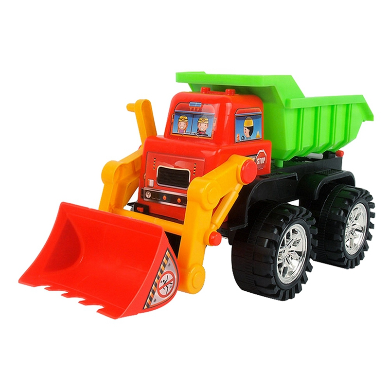 Plastic Beach Toy Forklift Children's Mechanical Car Series Simulation Children's Fancy Education Pool Sand Toys
