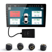 TPMS Auto Tire Pressure Monitoring System Drahtlose TPMS mit 4 Externe Sensoren fit für Android 7.1 Androi8.0 8,1 9,0 PX5 PX6 PX3(China)