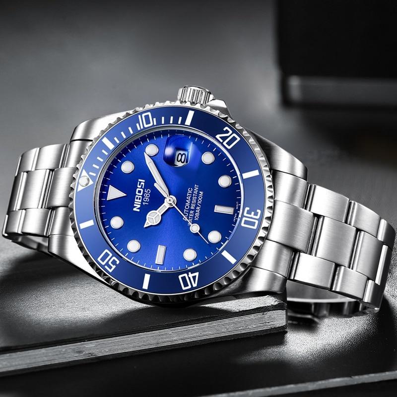 NIBOSI Fashion Mens Watches with Black Gold Top Brand Luxury Sports Quartz Watch Men Relogio Masculino 1