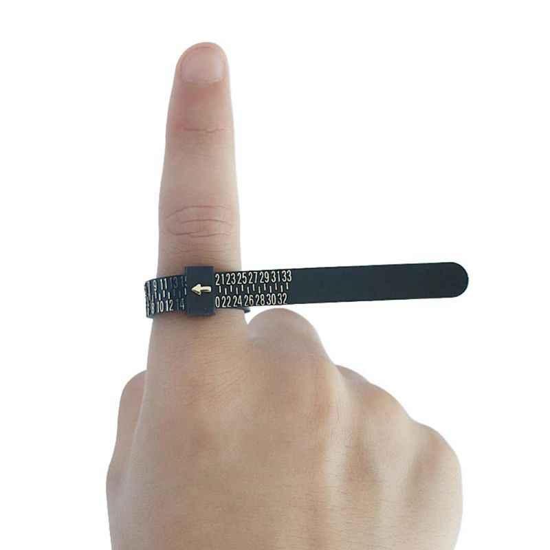 """מדידת אצבע סטנדרטי טבעת מעגל ארה""""ב/הונג קונג/יפן/אירופה/בריטניה קלטת שליט תכשיטי אבזר למדוד מד כלי"""