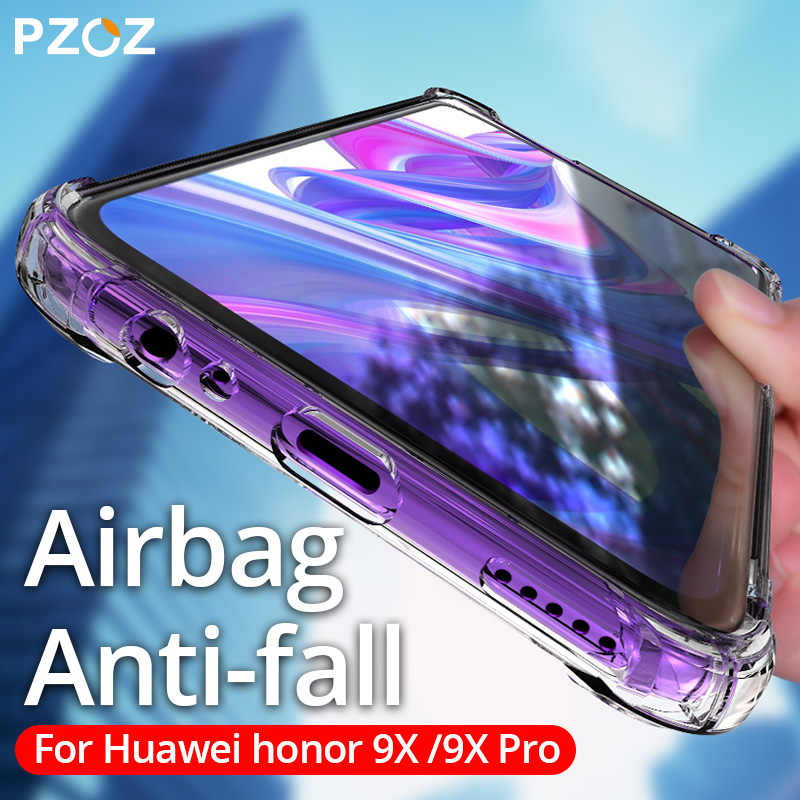 PZOZ For Huawei Honor 9X Pro View 10 Lite Case Shockproof Silicone TPU Transparent Cover Honor v10 view10 honor10 V 10 Soft Case