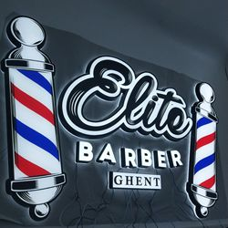 Custom Barber shop salon led sign board 3D advertising hair neon led signs wall signage