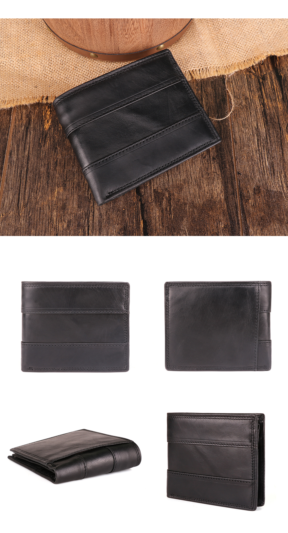 Hd8369c5b89694d6f8caf7953a2a76548H - GENODERN Cow Leather Men Wallets with Coin Pocket Vintage Male Purse Function Brown Genuine Leather Men Wallet with Card Holders