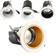 High Bright 5W 7W 12W 20W 30W przyciemniane światło led Downlights 24 kąt oprawa wpuszczone W sufit lampy halogeny lampy gwarancja tanie tanio FRADO 2 year THS-010-0A Polished chrome 85-265 v Przemysłowe Żarówki led Reflektor Temperature -25~45 Aluminium
