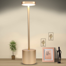 Hotel Restaurant dining desk lamp rechargeable bedside reading eye-caring lamp square head dimmable LED table lamp soft Light
