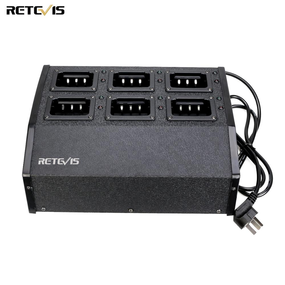 Retevis RTC29 Six-way Multi Unit Charger Two Way Radio Charger For RETEVIS RT29 Ailunce HD1 Walkie Talkie Battery Charger C9119A