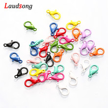 30pcs/lot Colorful Stainless Steel Lobster Clasp Hooks End Clasps Connectors For DIY Jewelry Making Findings Necklace Bracelet