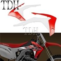 Dirt Bike Bodywork Radiator Shroud Motocross Front Tank Side Panel Cover Fairing Protector for Honda CRF250R 14 17 CRF450R 13 16