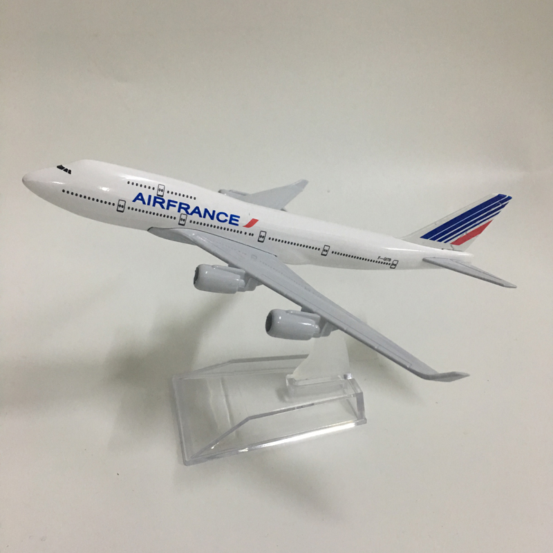 JASON TUTU 16cm Air France Boeing 747 Plane Model Airplane Model Aircraft Model Diecast Metal Airplanes Model 1:400 Plane Toy