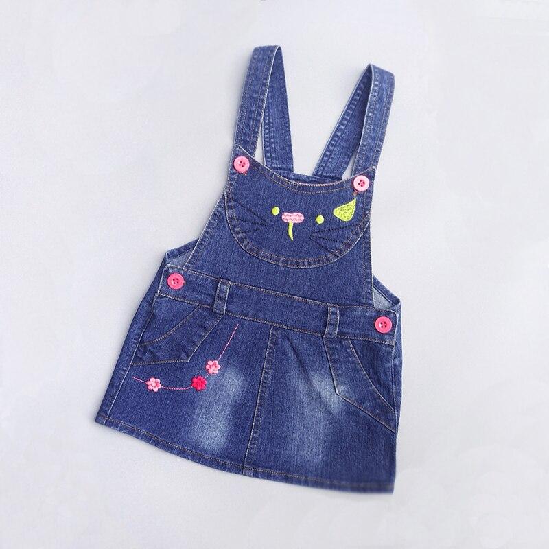 IENENS-robe dété pour petites filles | Salopette à bretelles, en Denim, vêtements pour enfants de 1 2 3 ans