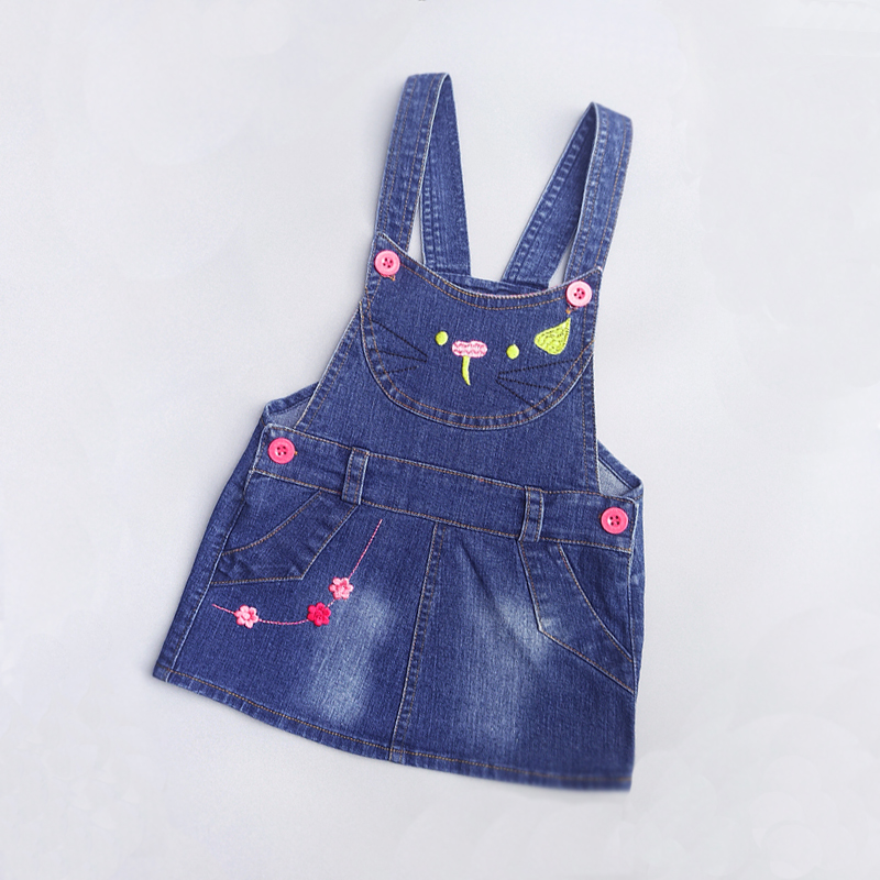 IENENS Summer Sundress <font><b>Baby</b></font> <font><b>Girls</b></font> Suspender <font><b>Girls</b></font> <font><b>Dress</b></font> Overalls 1 2 <font><b>3</b></font> <font><b>Years</b></font> Kids Straps Denim <font><b>Dress</b></font> Children Clothing Clothing image