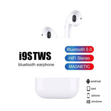 Bluetooth 5.0 Earphone Mini Earbuds i9S TWS Smart Wireless Headphones with Charging Box Headset