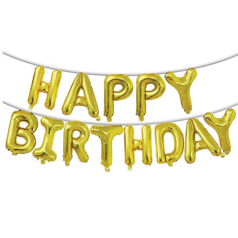 13 sztuk dekoracja urodzinowa Balony różowe złota litera Balony foliowe dekoracje na imprezę urodzinową Globos Balony Anniversaire