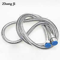 Zhangji tuyau de douche de bain haute densité en acier inoxydable accessoire de salle de bain tuyaux de plomberie intensifs tuyau d'eau souple Durable 1.5m