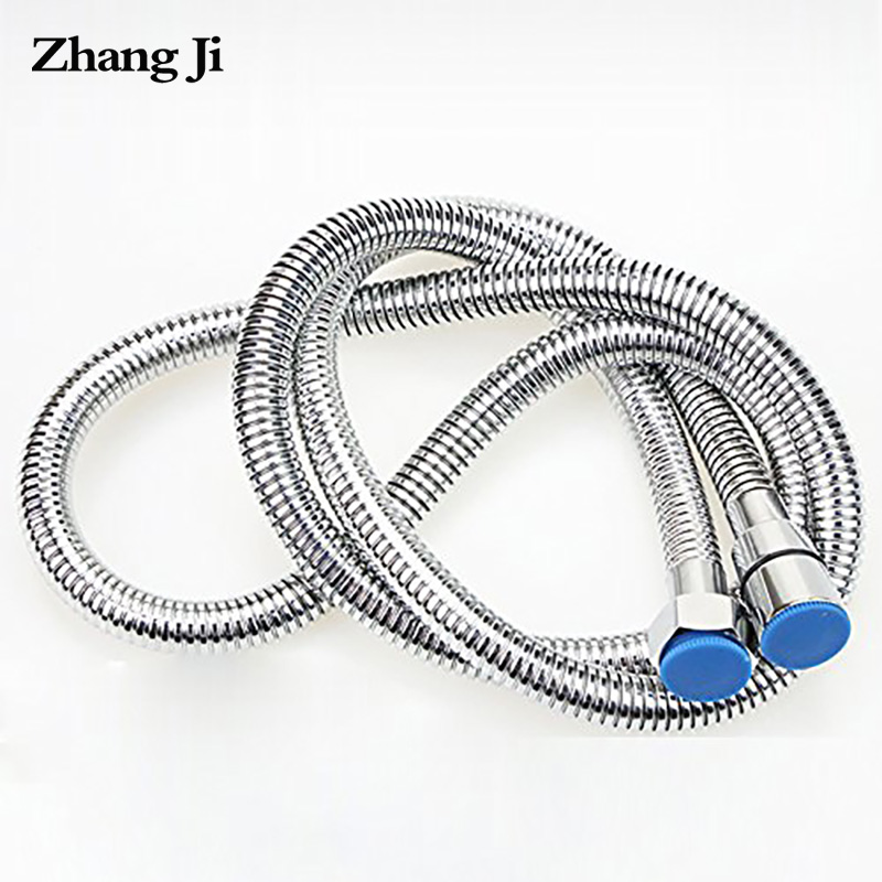 Zhangji High Density Bath Shower Hose Stainless Steel Bathroom Accessory Intensive Plumbing Hoses Soft Durable Water Hose 1.5m