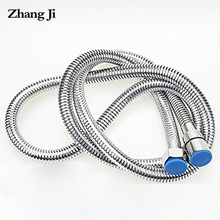 Zhangji High density Bath Shower Hose Stainless Steel Bathroom Accessory Intensive Plumbing Hoses Soft Durable Water Hose 1.5m bathroom stainless flexible hose silver hand shower hose 1 5m 2 0m bath water inlet pipe plumbing hoses tuyau de douche