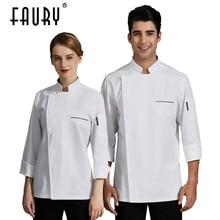 Shirt Uniform Sushi-Costume Chefs-Jacket Work-Clothes Barber Food-Service Women Coffee-Shop