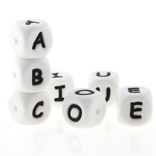 Bracelet-Accessories Beads Necklace Alphabet Letter Oral-Care Bpa-Free Baby 12mm Silicone