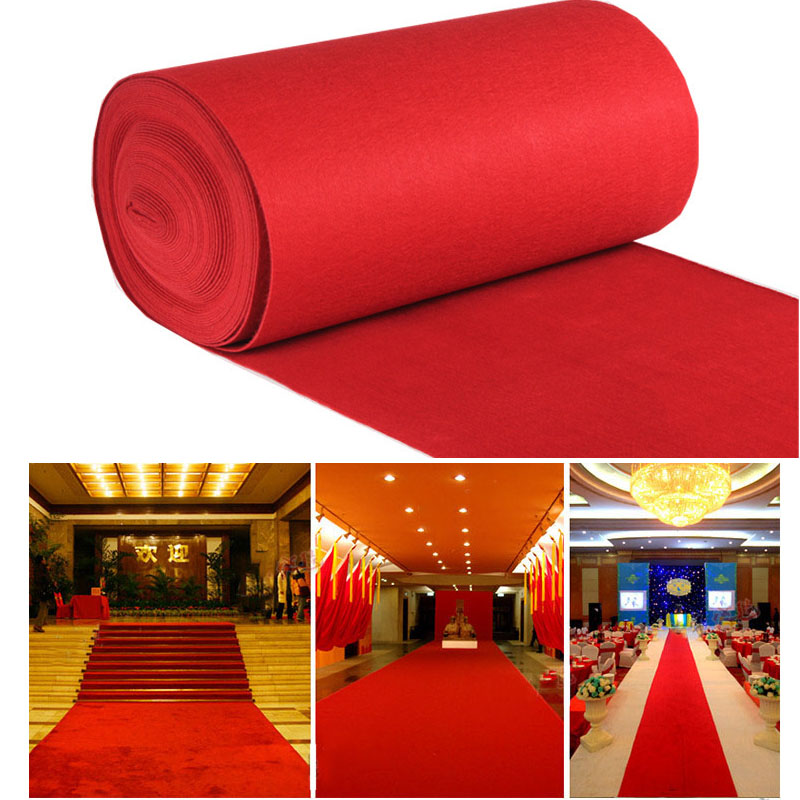 ZXQWAN1Mm Outdoor Red Carpet Wedding Banquet Celebration Opening Stage Film Festival Event Decorative Carpet Red Carpet