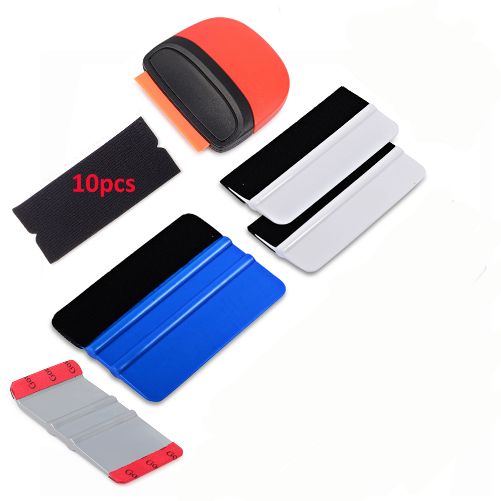 FOSHIO Car Accessories Carbon Fiber Car Tools Kit Vinyl Wrap Tools Car Window Tint Film Applicator For Automotive Wrapping DIY
