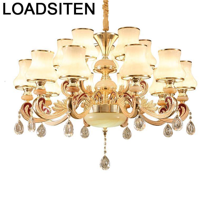 Light Fixtures Loft Pendente Lustre Crystal Pendant Lampara De Techo Colgante Moderna Lampen Modern Luminaria Hanging Lamp