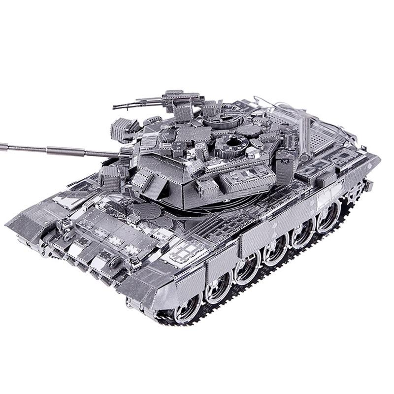 2019 DIY 3D Metal Puzzle Toy P047S T-90A Tank Model Kits Assembled Metal Craft 3D Puzzles Kids Toys