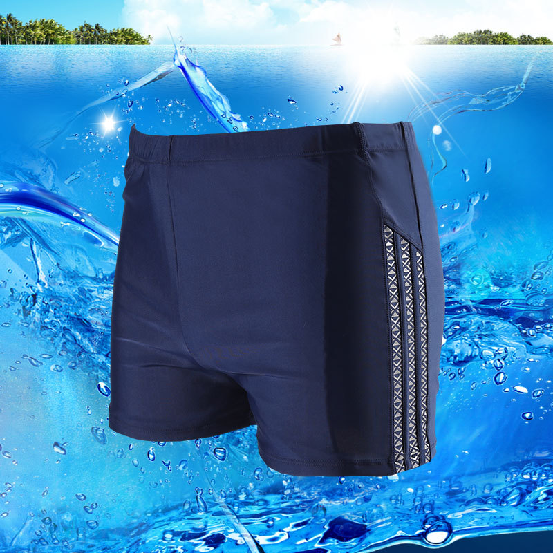 2019 South Korea Swimming Trunks Men Boxer-Style Swimming Trunks Large Size Quick-Dry Comfortable Beach Profession Swimming Trun