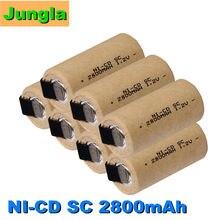 Baterias recarregáveis nicd da bateria do sc 2800mah 1.2v para makita bosch b & d hitachi metabo dewalt para a chave de fenda elétrica