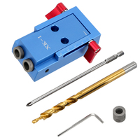 NICEYARD Puncher Oblique Hole Locator Pocket Hole Jig Kit System Wood Work Tool Set Furniture Punching Drill Bit Accessories|Hand Tool Sets| |  -