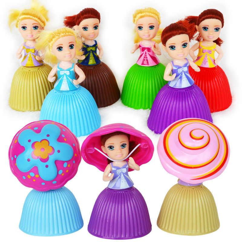 כוס עוגת בובת לשחק בית ילדים צעצוע עוגת מיני הפתעה בובת Deformable מאפה נסיכה מתוק ילדה יום הולדת מתנה #40