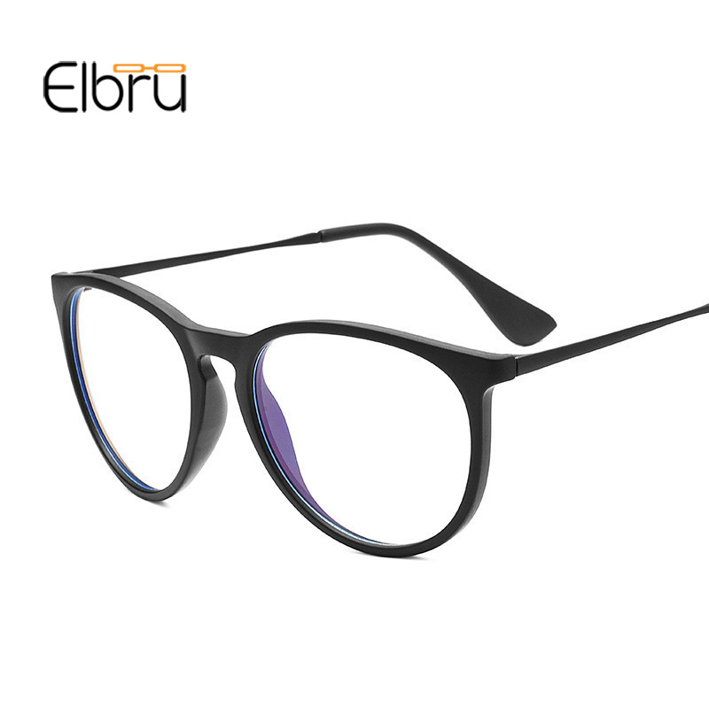 Elbru Women Vintage Decoration Optical Glasses Frame myopia Men Round Metal spectacles eyeglasses <font><b>arma</b></font>çã<font><b>o</b></font> <font><b>de</b></font> <font><b>oculos</b></font> feminino image