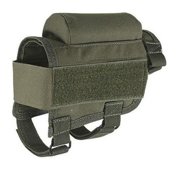 Tactical Rifle Cases Cheek Rest Riser Ammo Cartridges Hunting Carrier Canvas Pouch Round Cartridge Bag Shell Buttstock Ammo 2