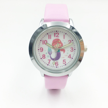 Fashion Kids Watches Girls Cartoon Mermaid Analog Quartz Watches