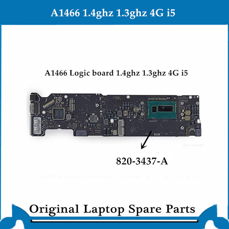 Original Logic Board For Macbook Air A1466 Motherboard 820-3437-B Main Board I5  4G 1.4ghz 1.3ghz 2013-2014 Tested