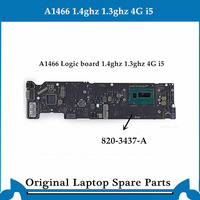 Original logic board for Macbook Air A1466 Motherboard 820 3437 B Main Board i5 4G 1.4ghz 1.3ghz 2013 2014 tested