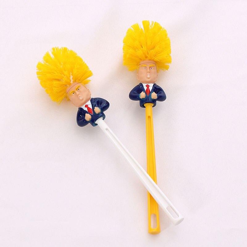 Creative Trump Toilet Brush Toilet Brush Plastic Creative Toilet Brush Toilet Brush Set toilet brush holder